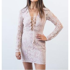 The Jetset Diaries Lace Up Dress XS